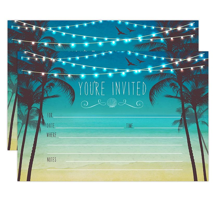 amazon palm trees invitation
