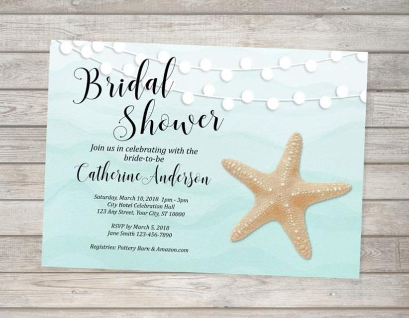 starfish string light invitations