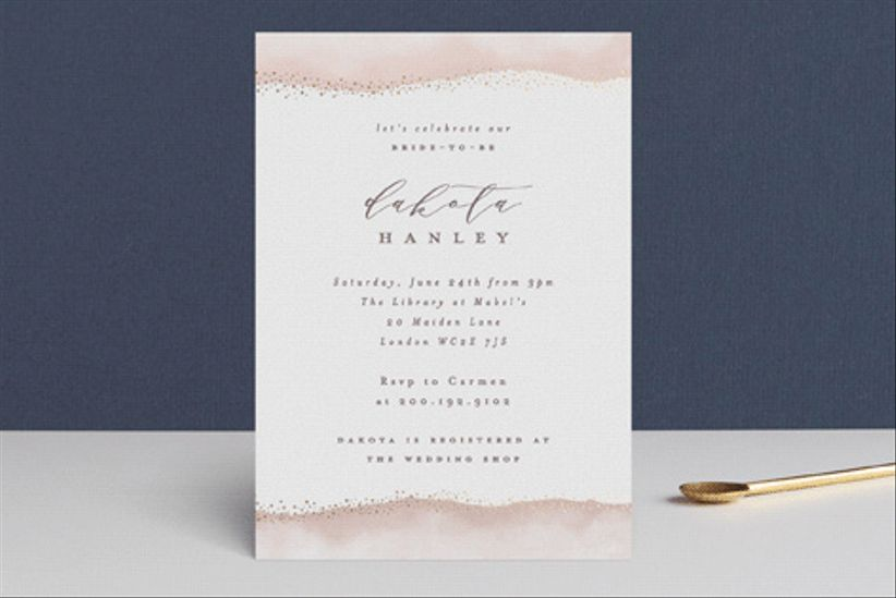 gold invitation