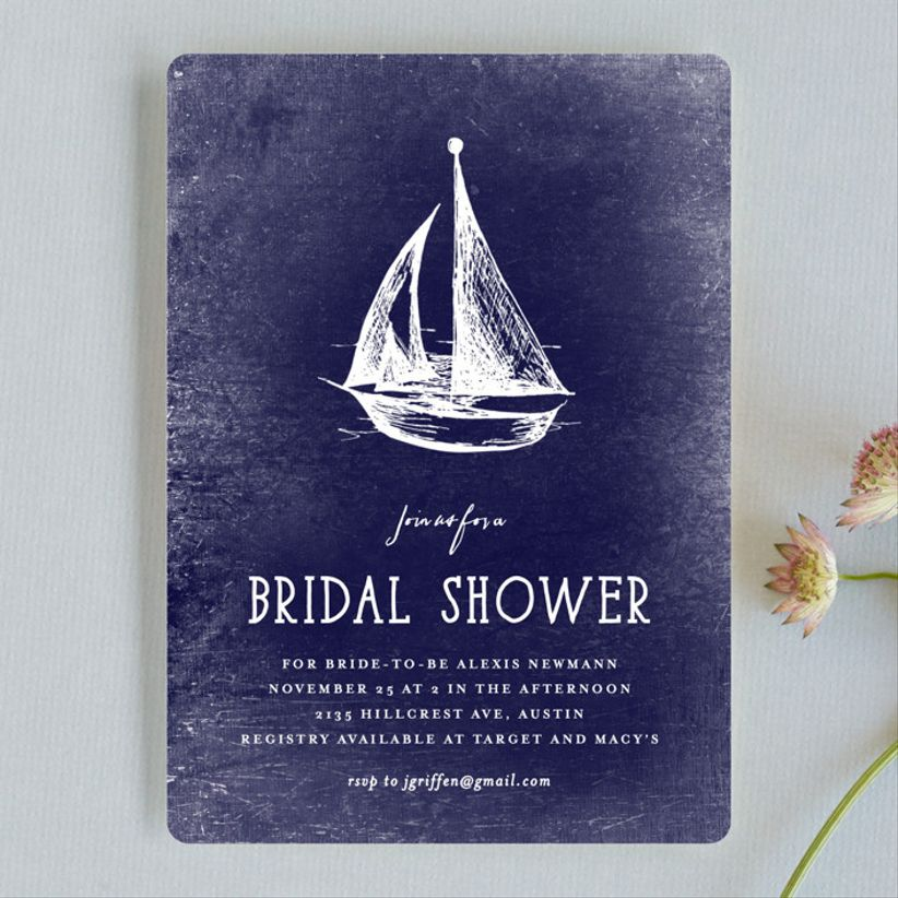 sailboat wedding invitation