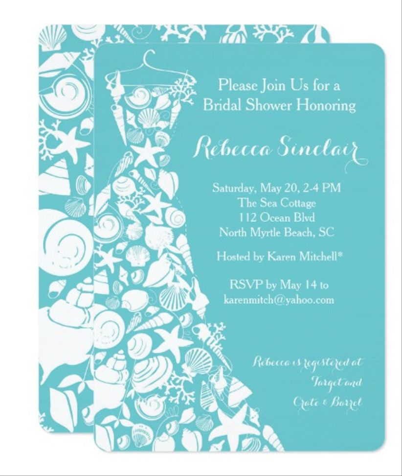 seaside dress wedding invitation