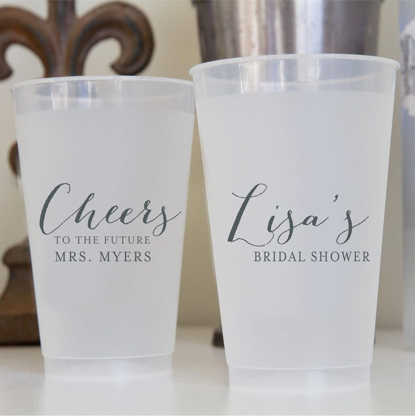 bridal shower custom cups
