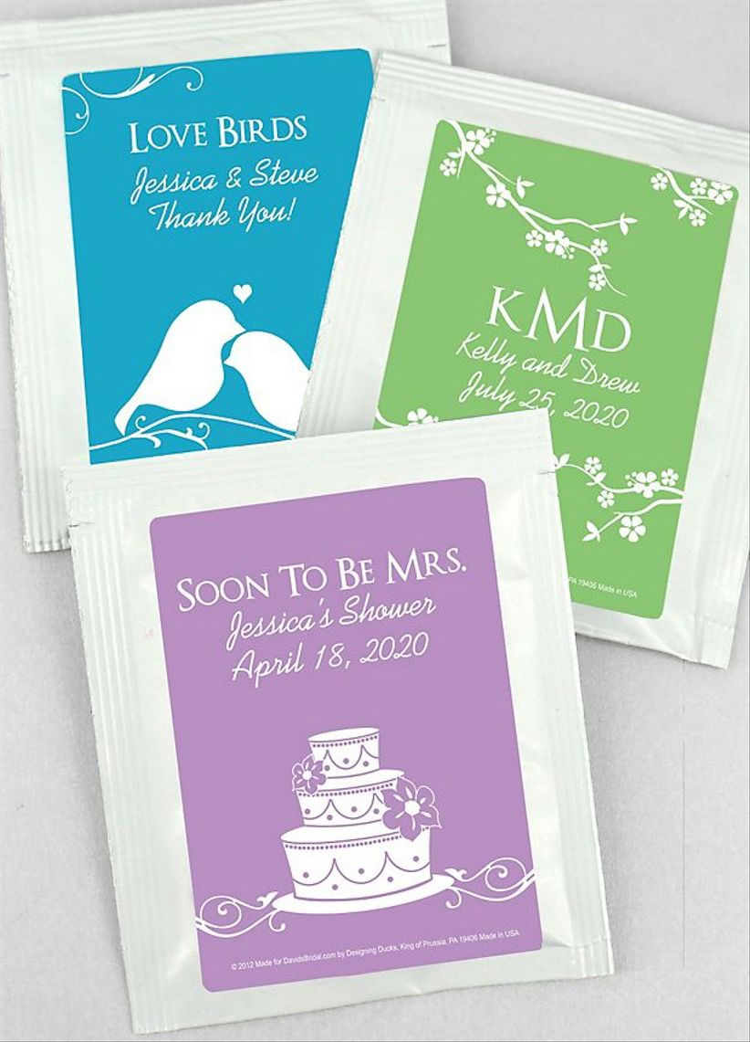 bridal shower tea bags