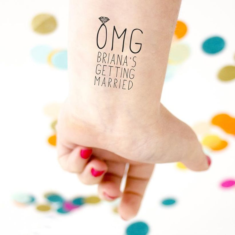temporary bridal shower tattoo