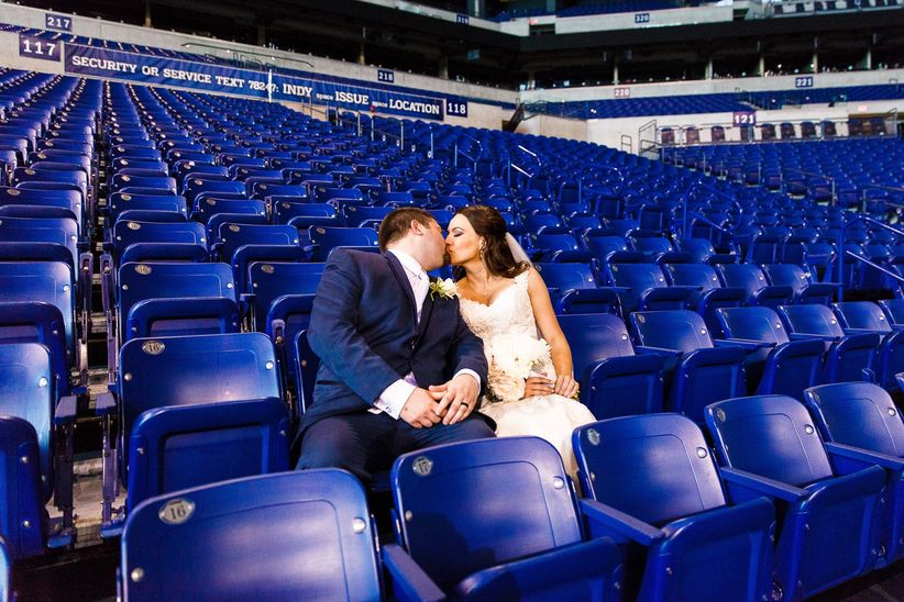 wedding couple colts stadium