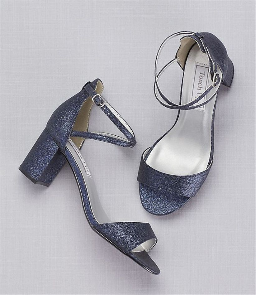 blue sparkly shoes