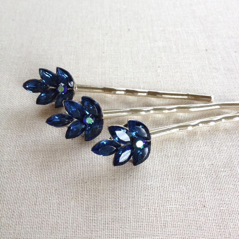 navy blue hairpins