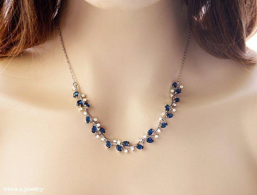 blue cz necklace