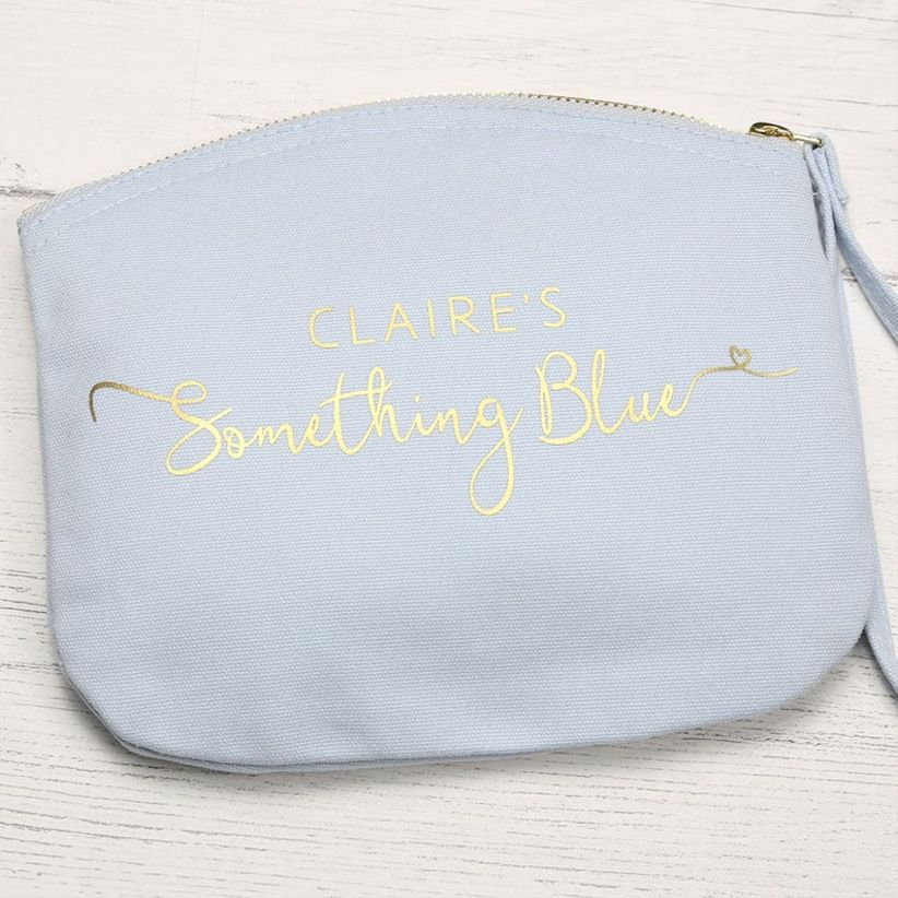 blue bridal bag