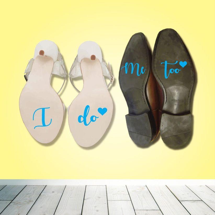 blue shoe stickers