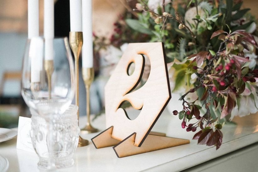 laser wood table numbers