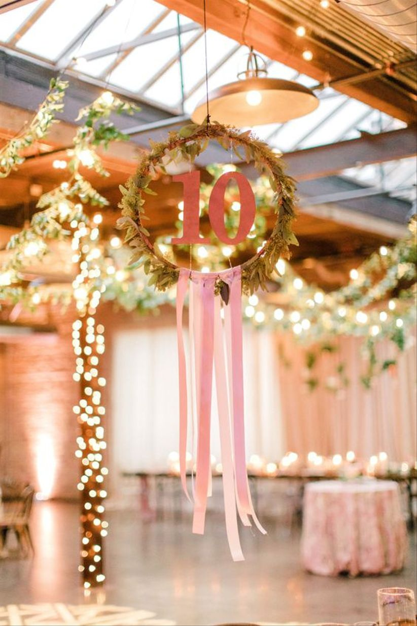 floral frame table numbers