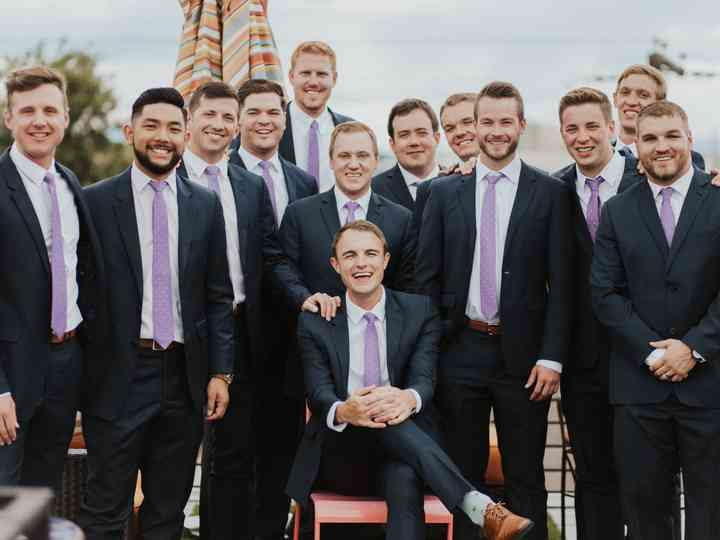 outlet store factory outlet top-rated original The 7 Rules of Mismatched Groomsmen Suits - WeddingWire