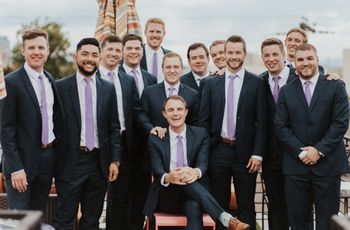 The 7 Rules of Mismatched Groomsmen Suits - WeddingWire
