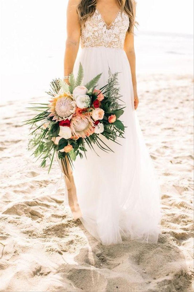 protea summer wedding bouquet