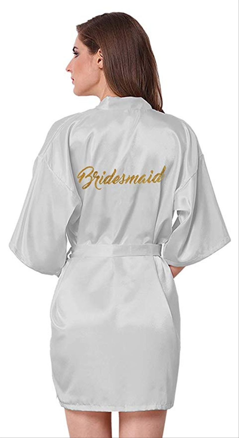 amazon bridesmaid robe