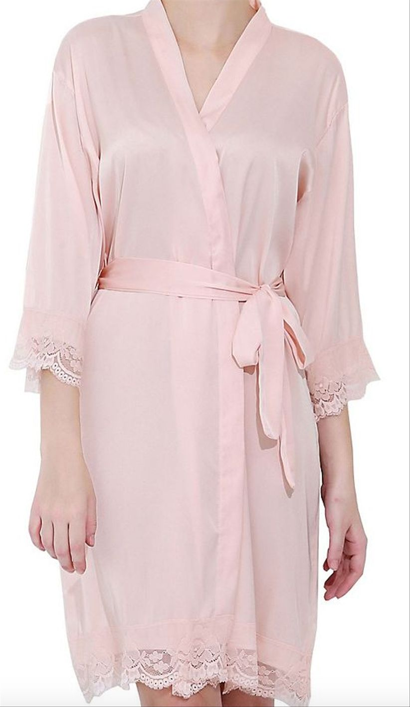 pink davids bridal robe