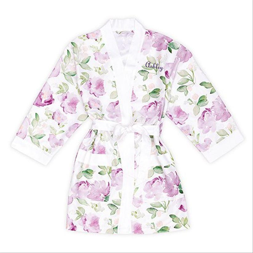 lavender floral robe