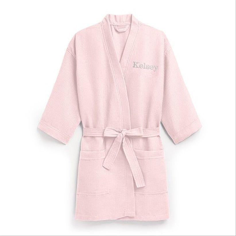 blush waffle robe