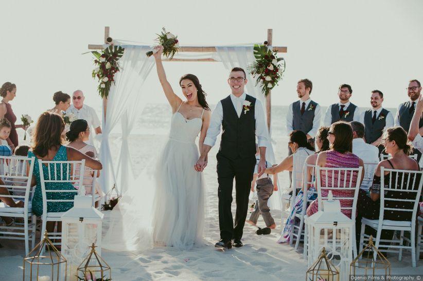 destination wedding recessional