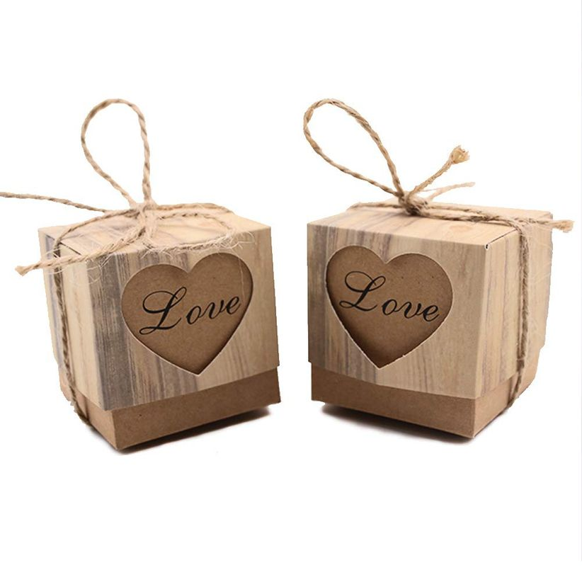 rustic candy boxes
