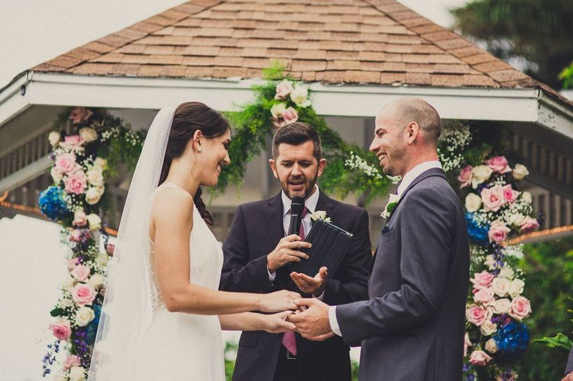 couple wedding officiant