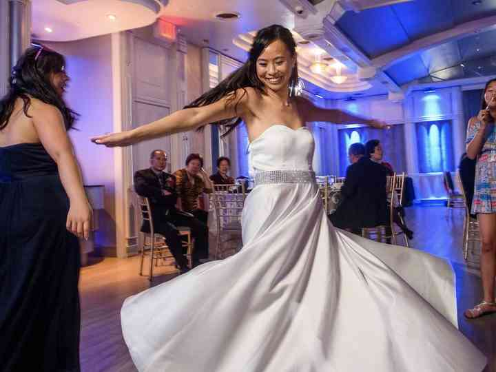 Here S How Your Wedding Dress Style Affects Your First Dance