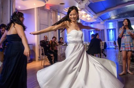 Here's How Your Wedding Dress Style Affects Your First Dance