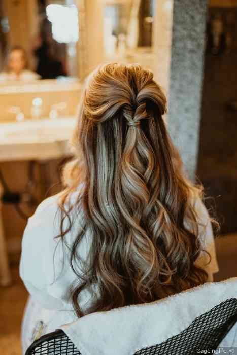 45 Perfect Half Up Half Down Wedding Hairstyles Wedding Forward