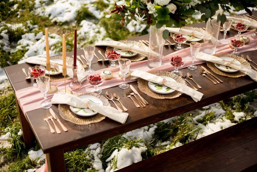 engagement party tablescape