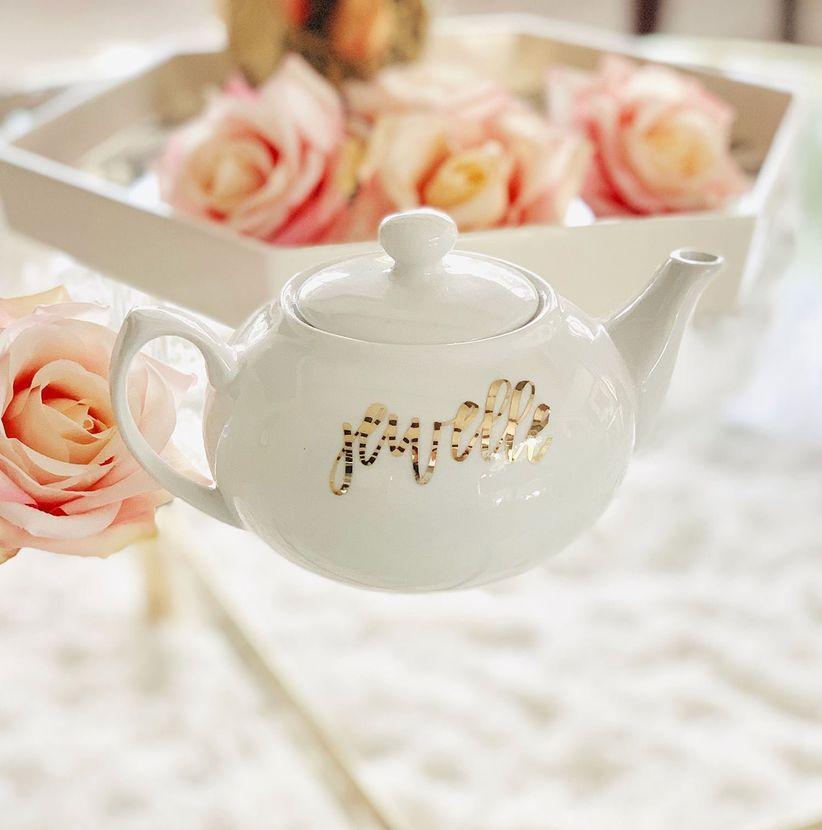 personalized teapot