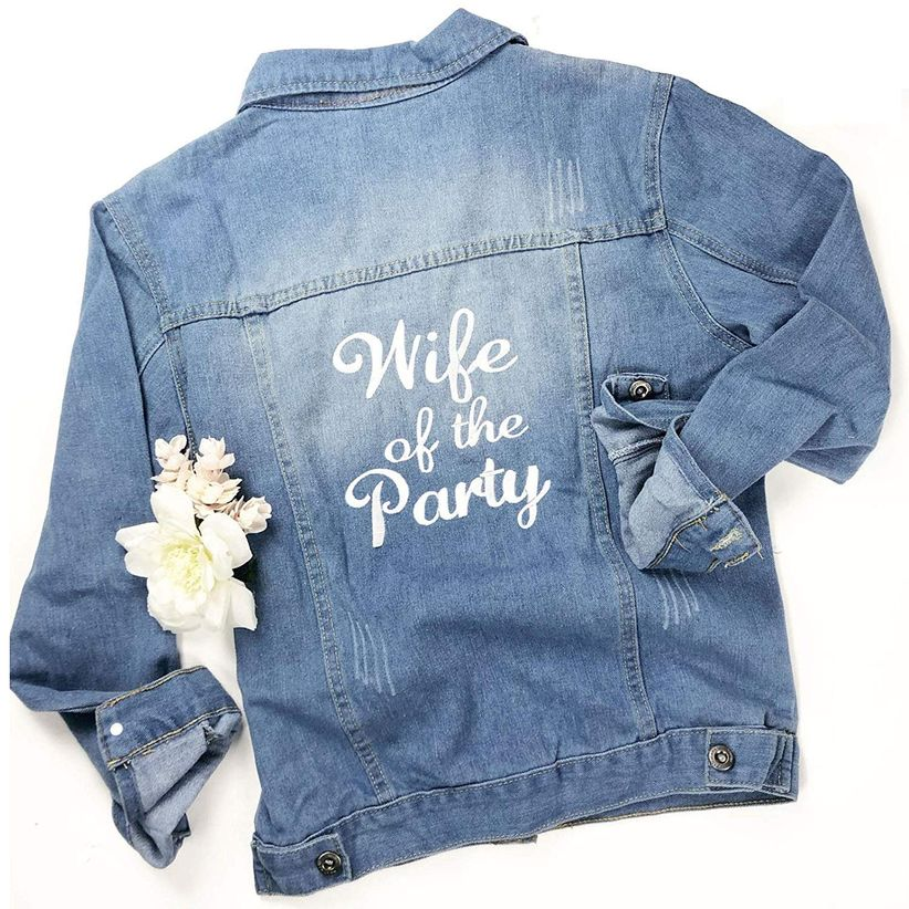denim bridal jacket with