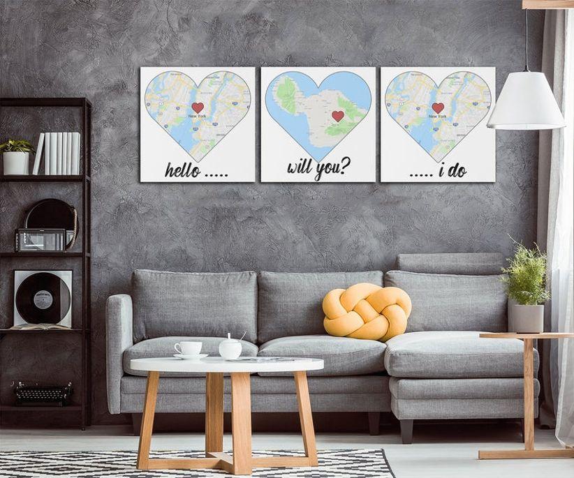 map triptych