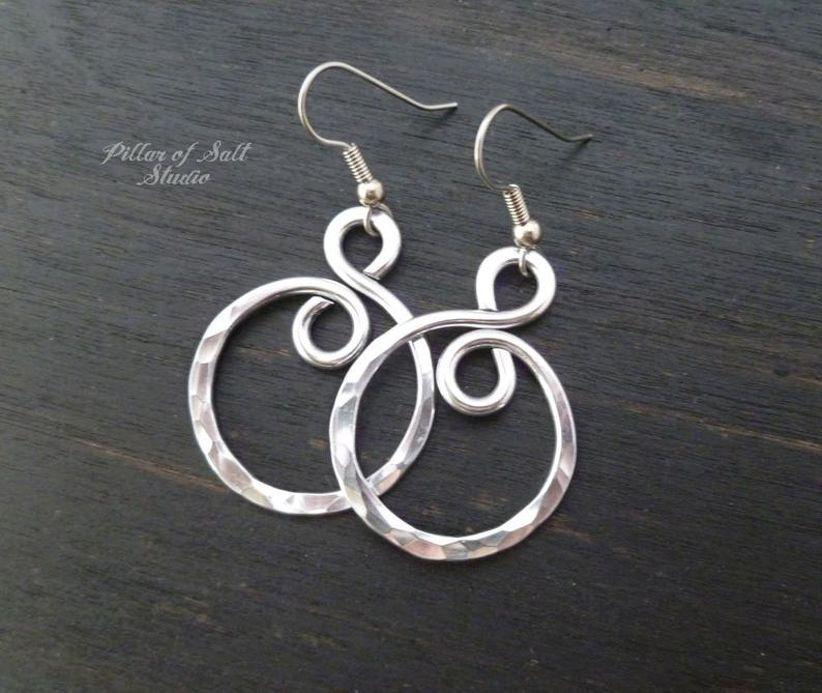 alumnium earrings