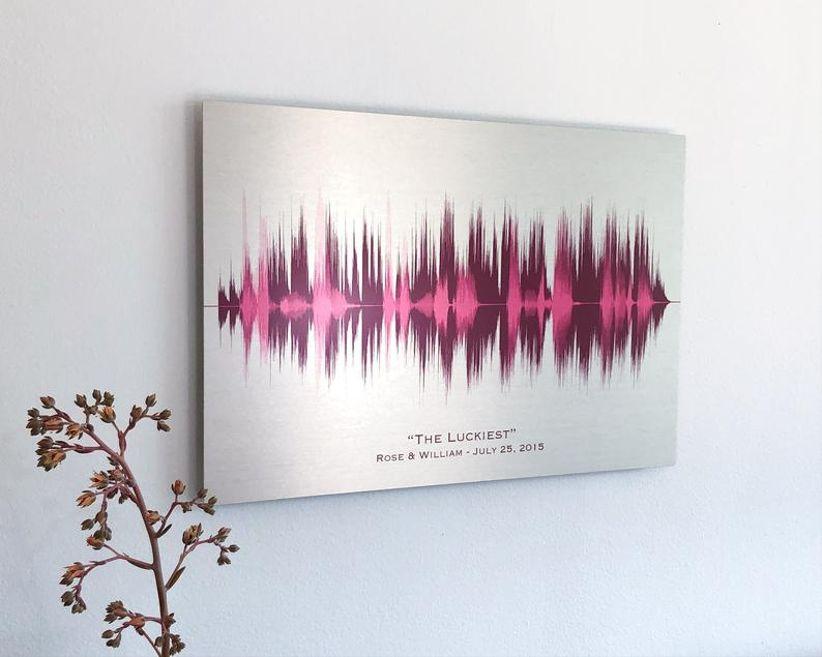 10 year anniversary gift sound wave art
