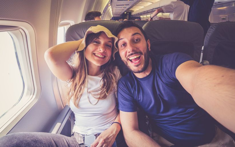 couple traveling internationally