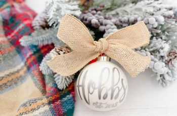"20 ""Our First Christmas"" Ornaments for a Memorable Holiday Celebration"