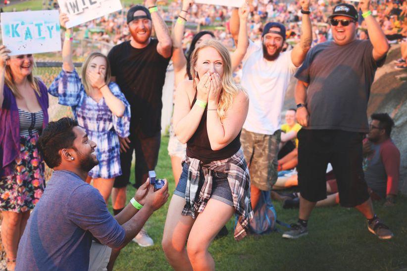 proposal at concert