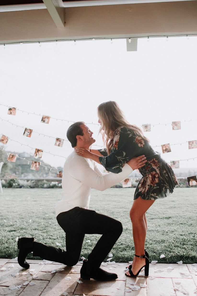 cute proposal idea with relationship pictures