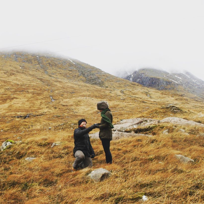 proposal during hike