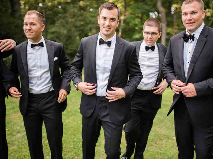Classic-Tuxedo Formal Black Neck Tie with Matching Pocket Square for Men