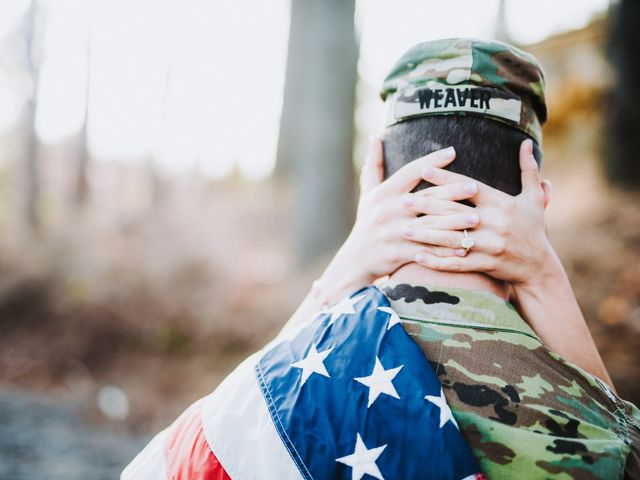 This Military Couple Aced Their Outdoor Engagement Photos