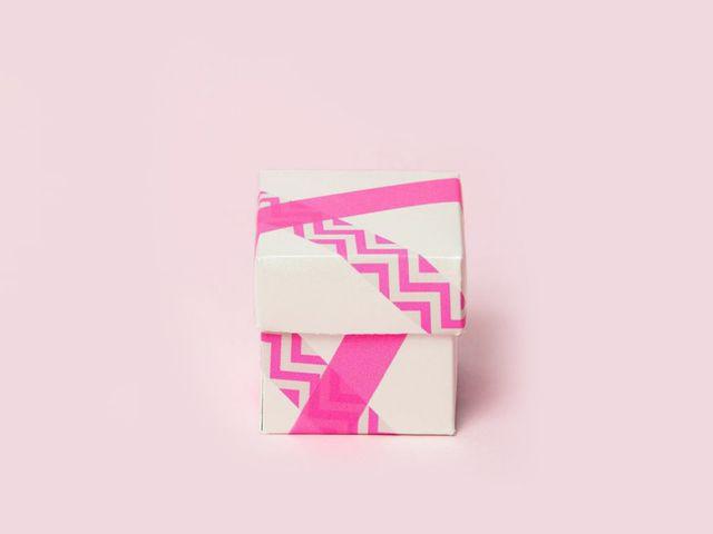 Washi Tape Wedding Favor Box DIY