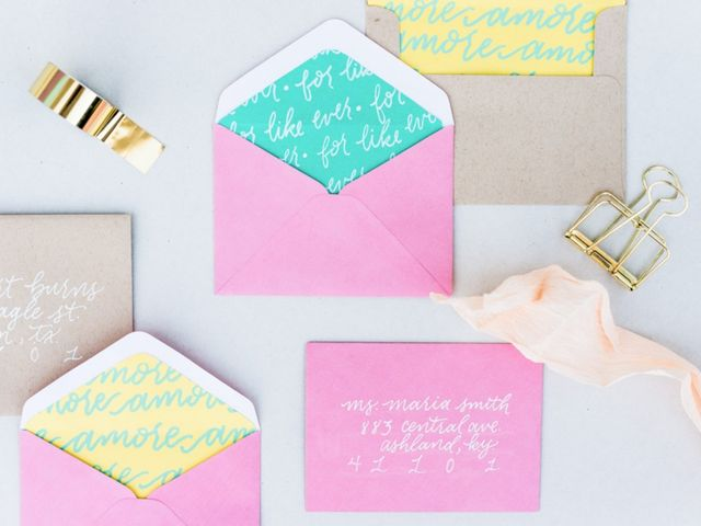Custom Hand Lettered Envelope Liners