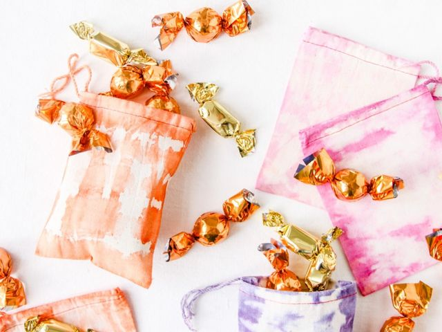 Dyed Fabric Favor Bags
