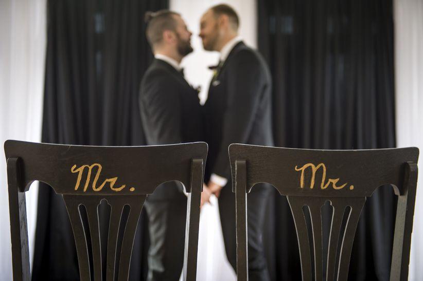 gay wedding chairs