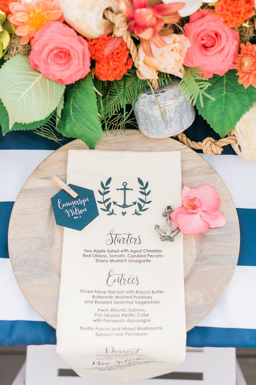 preppy place setting