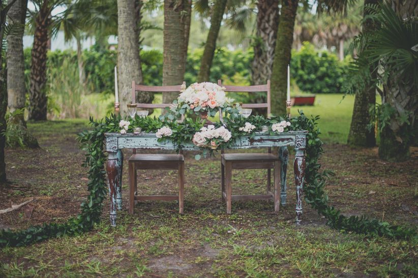 shabby chic wedding tablescape