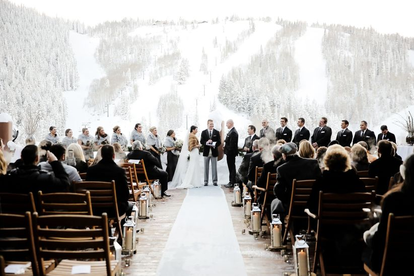 10 winter wedding ideas that are cozy and chic weddingwire winter wedding idea junglespirit Gallery
