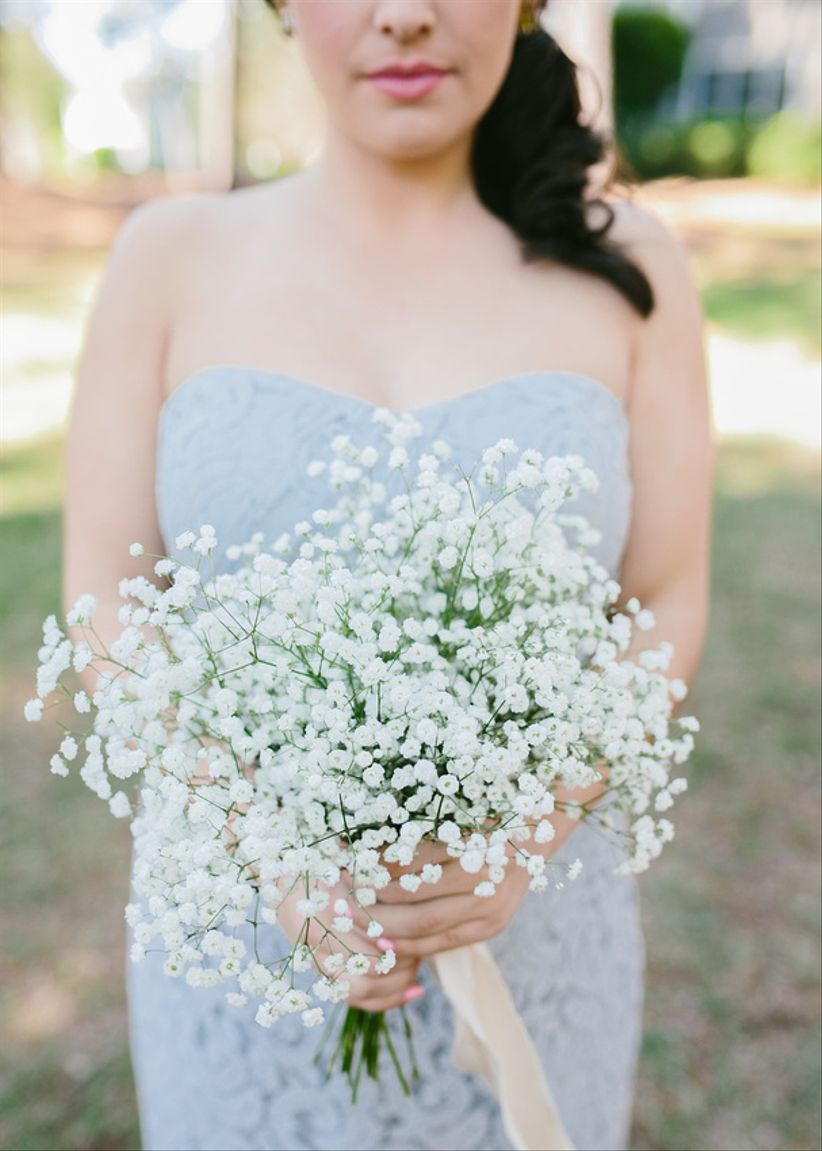 rustic baby's breath bouquet